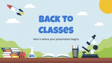 Back to Classes presentation template