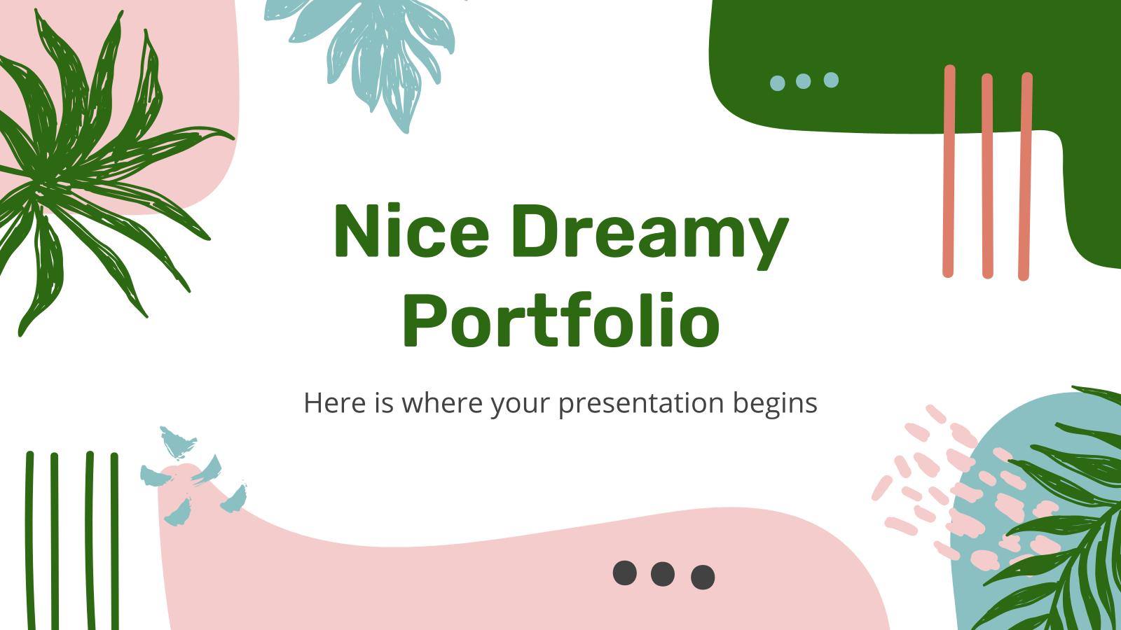 Modelo de apresentação Portfólio sonhador