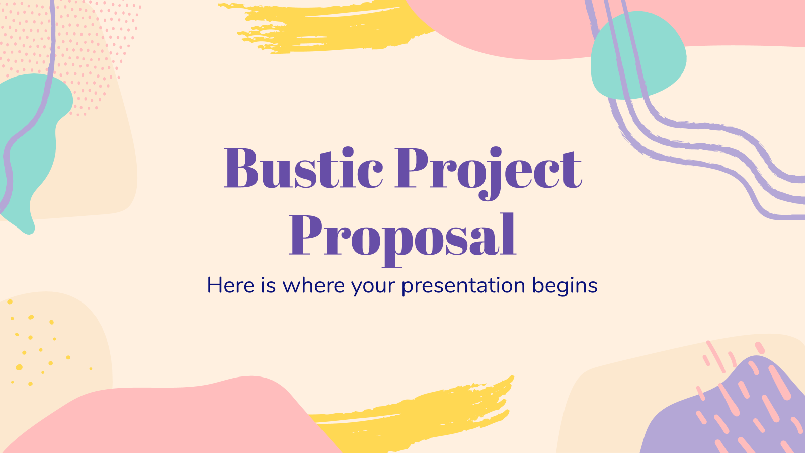 Bustic Project Proposal presentation template