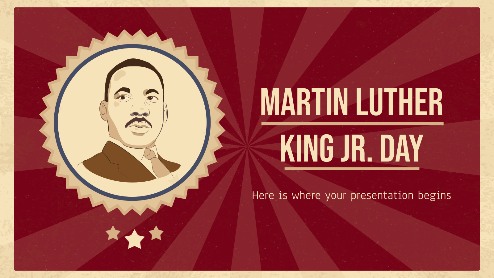 Martin Luther King Jr. Day presentation template