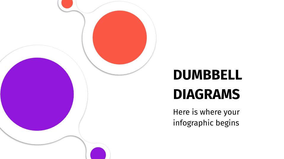Dumbbell Infographics presentation template