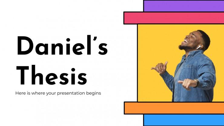 Plantilla de presentación La tesis de Daniel