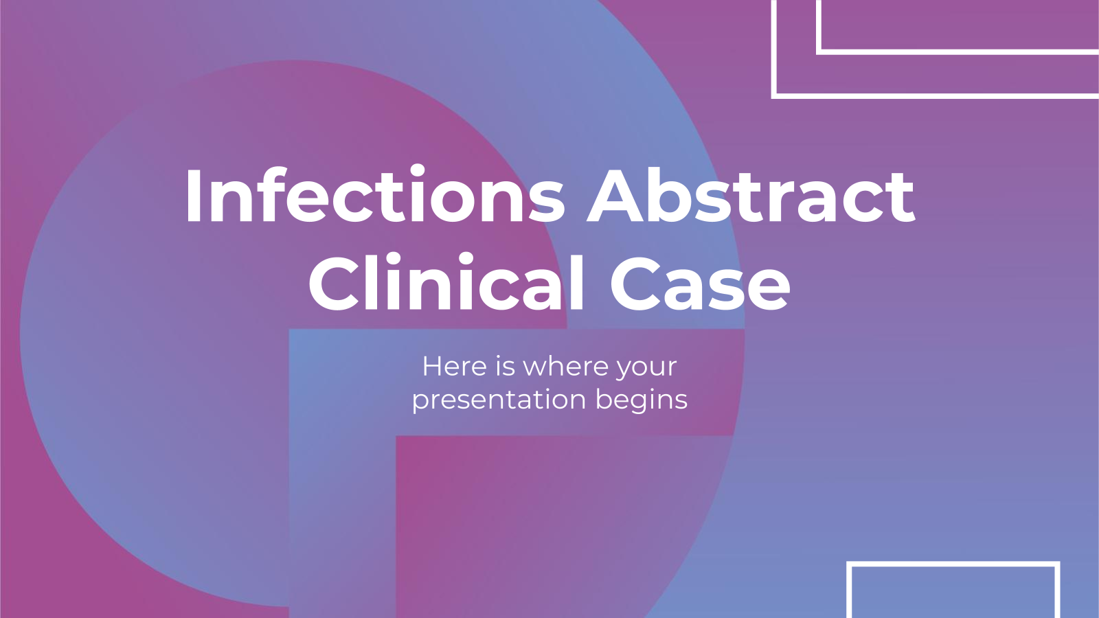 Infections Abstract Clinical Case presentation template