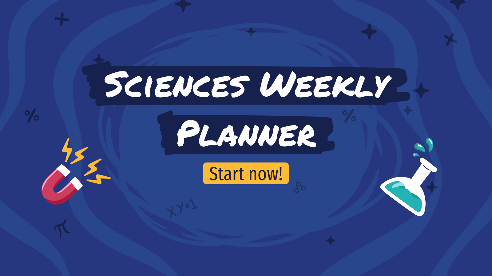 Science Weekly Planner presentation template