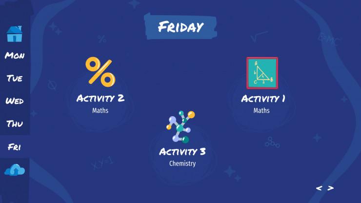 Modelo de apresentação Agenda semanal de ciência