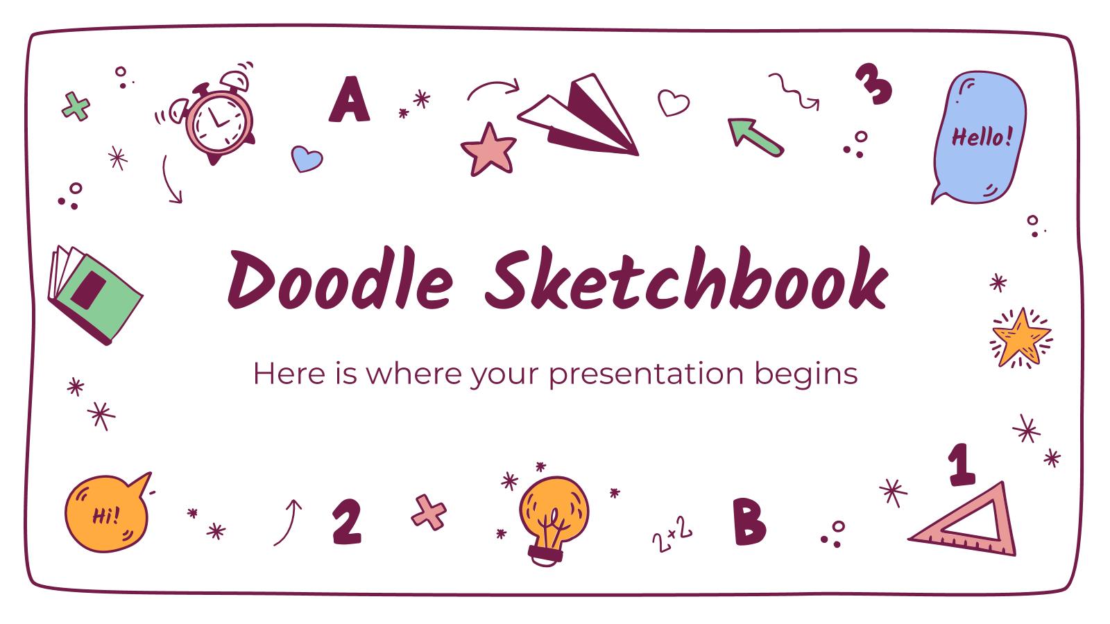 Doodle Sketchbook presentation template