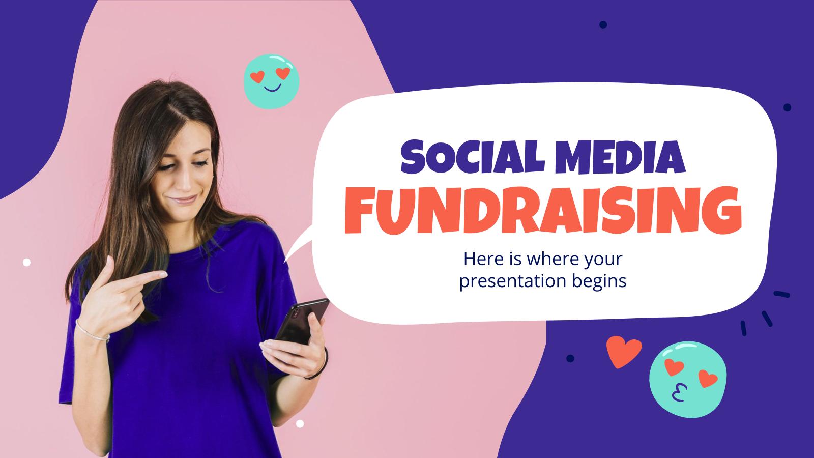 Plantilla de presentación Campaña colecta de fondos en redes