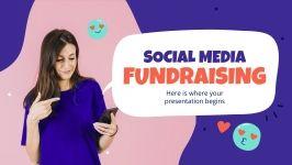Modelo de apresentação Captação de recursos de mídia social
