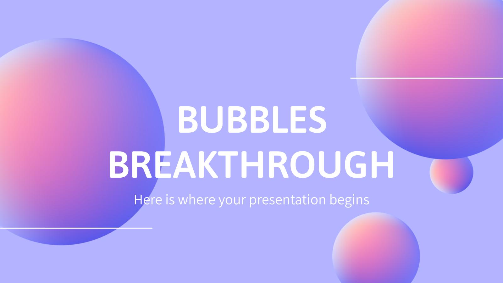Plantilla de presentación Fondo de burbujas avance médico