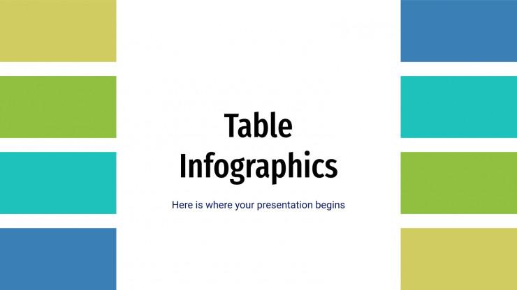 Plantilla de presentación Infografías de tablas