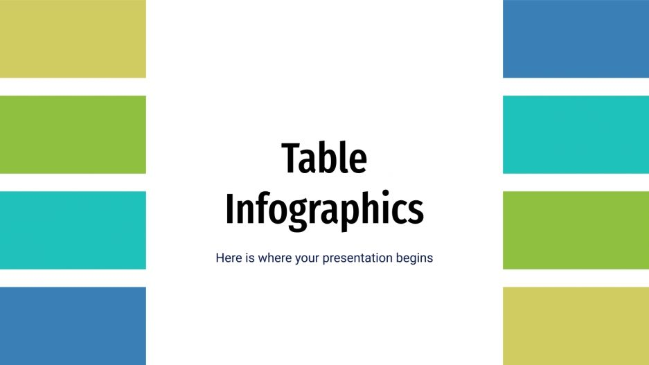Tabellen-Infografik Präsentationsvorlage