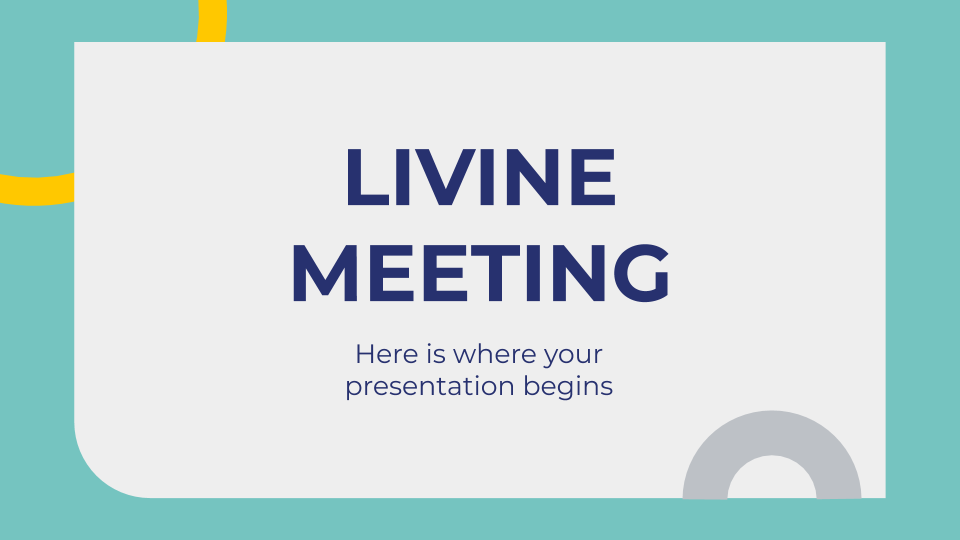 Livine Meeting presentation template