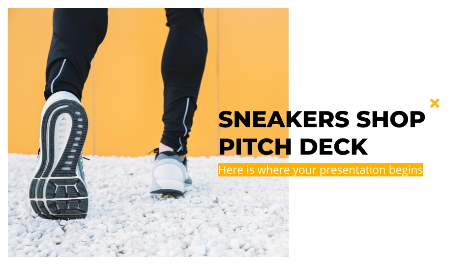 Sneakers Shop Pitch Deck Präsentationsvorlage