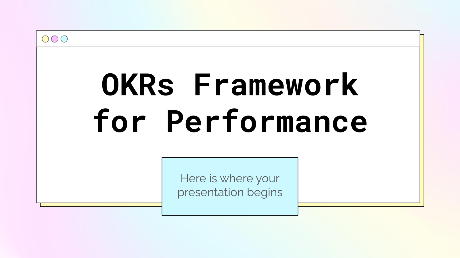OKRs Framework for Performance presentation template