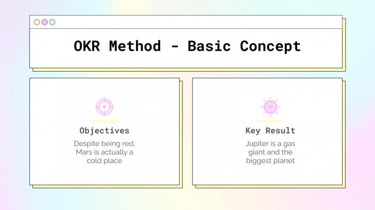 Plantilla de presentación Marco de objetivos y resultados clave
