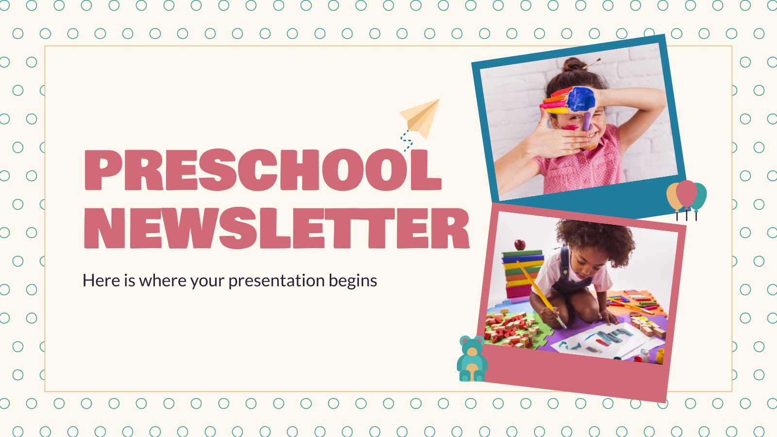 Preschool Newsletter presentation template
