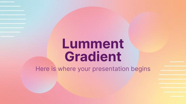 Lumment Gradient presentation template
