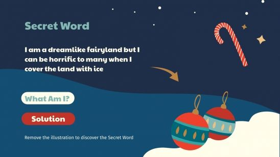 Créer des mots sur le thème de l'hiver : Modèles de présentation