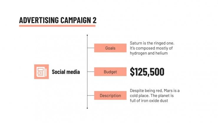 Plantilla de presentación Campaña integrada