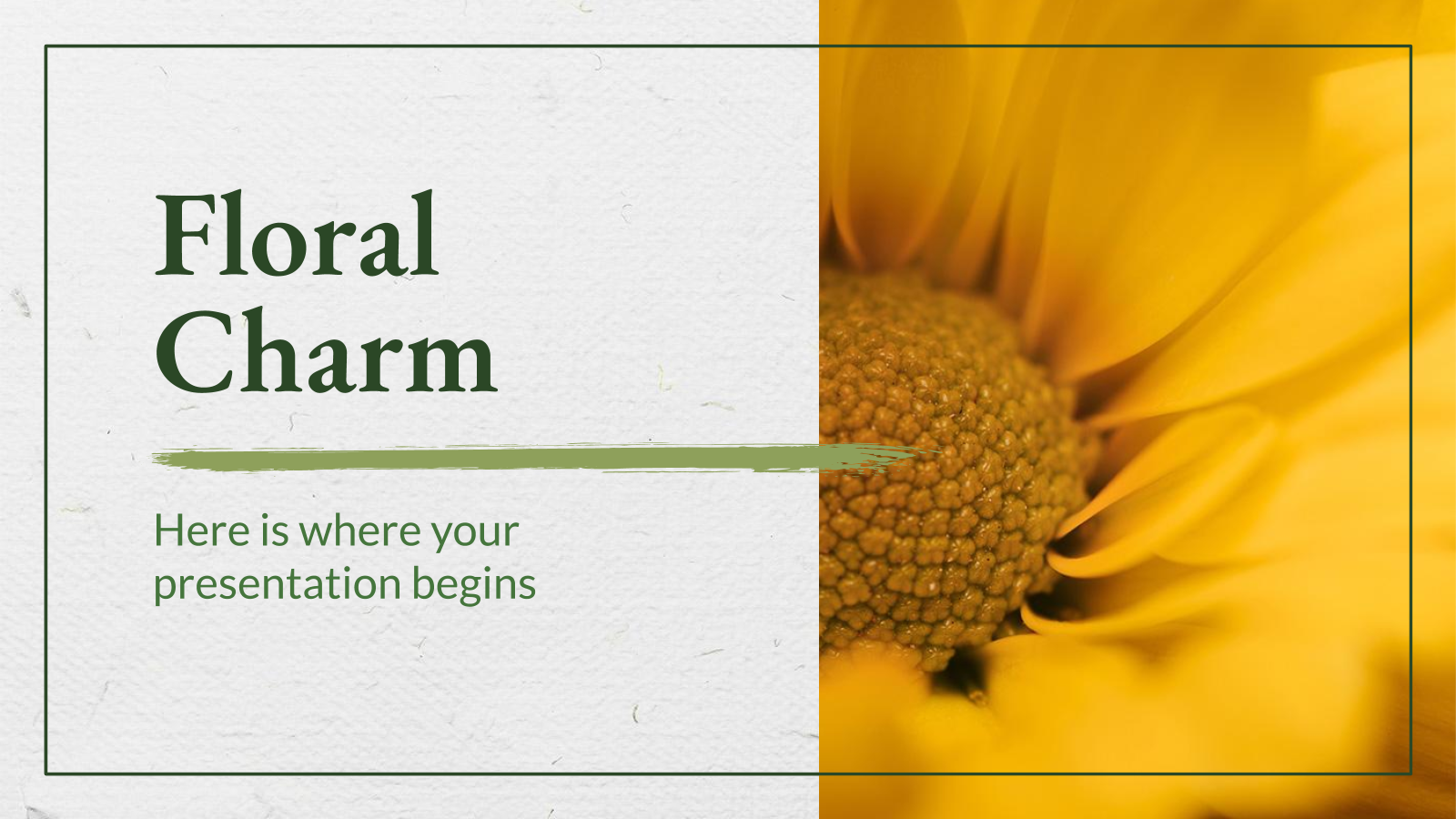 Floral Charm presentation template