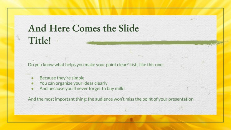 Floral Charm presentation template