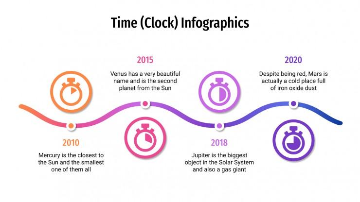 Plantilla de presentación Infografías de relojes
