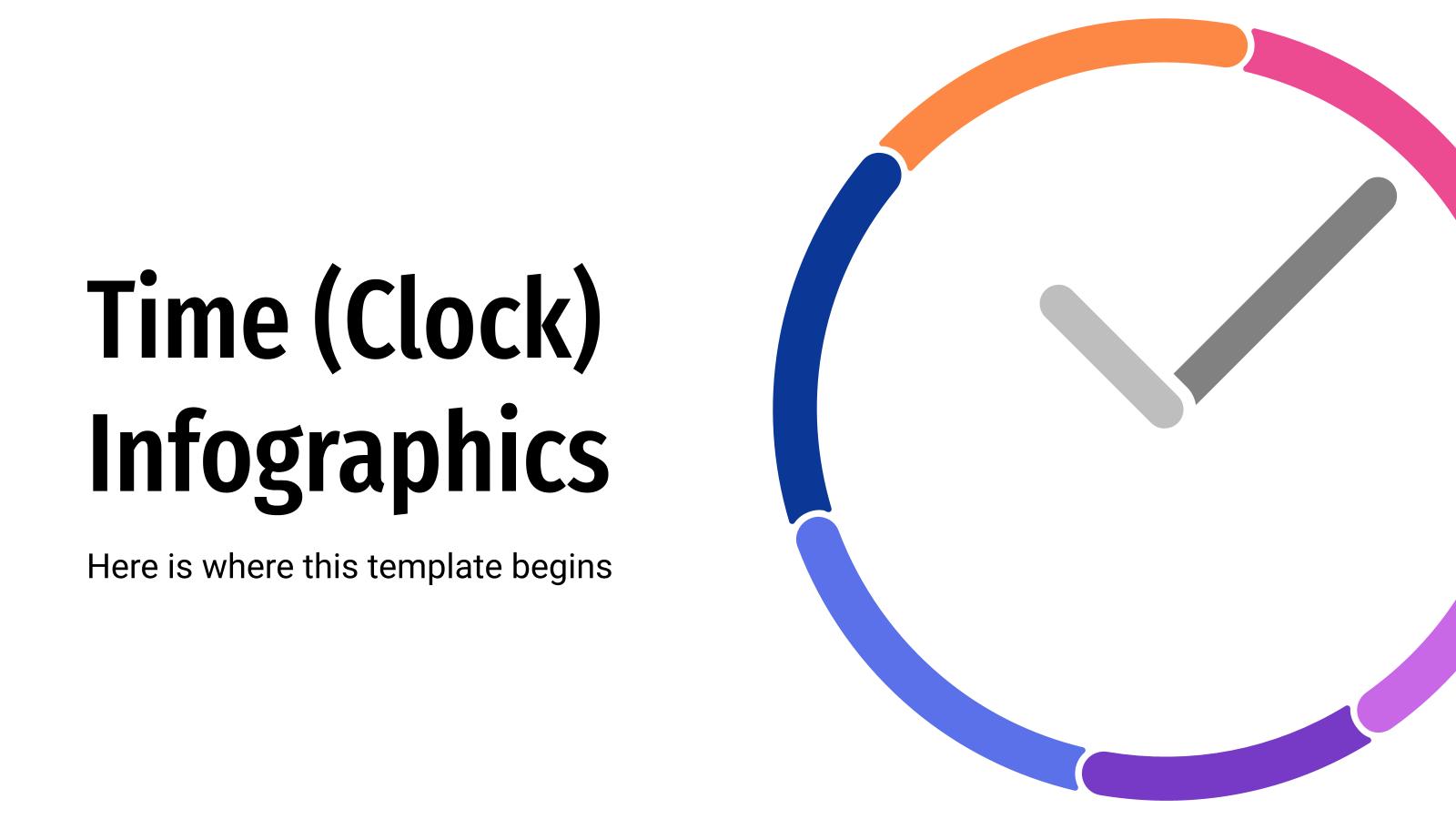 Infographies du temps (horloge) : Modèles de présentation