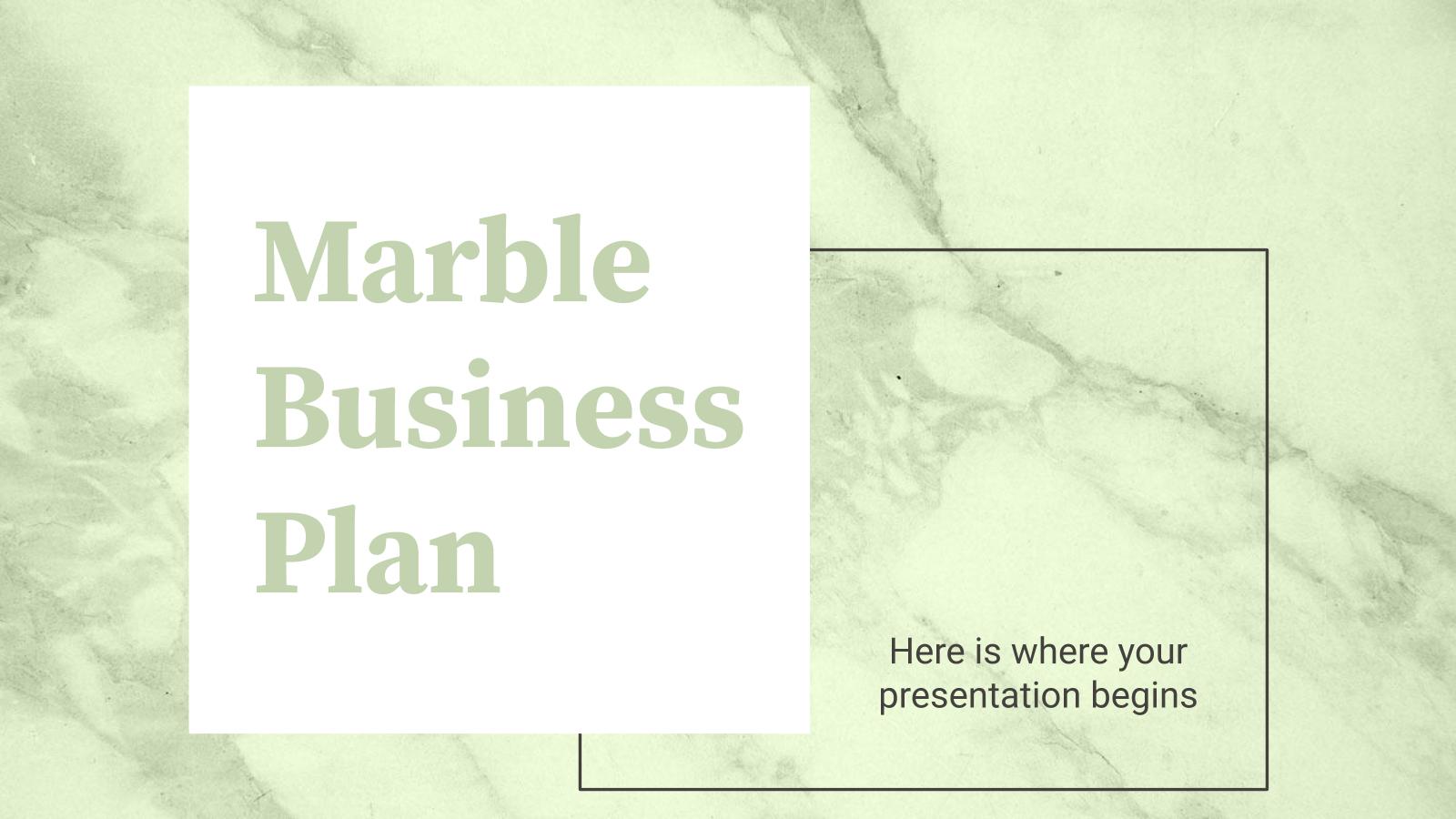 Modelo de apresentação Plano de negócios marmorizado