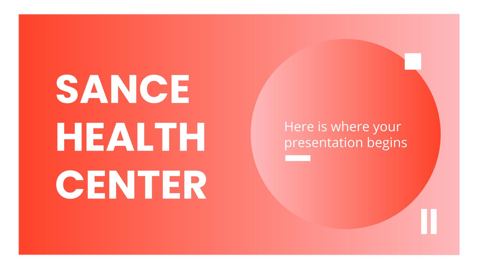 Sance Health Center presentation template