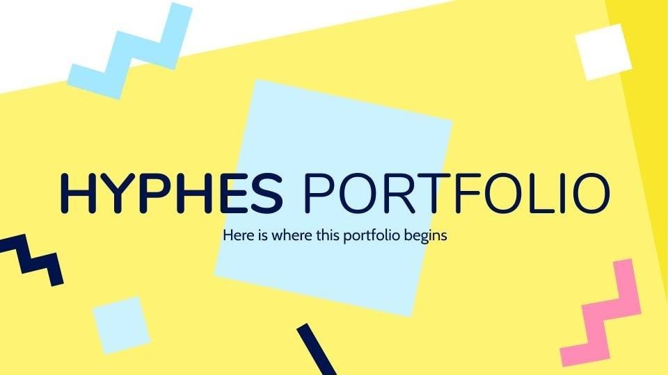 Modelo de apresentação Portfólio Hyphes
