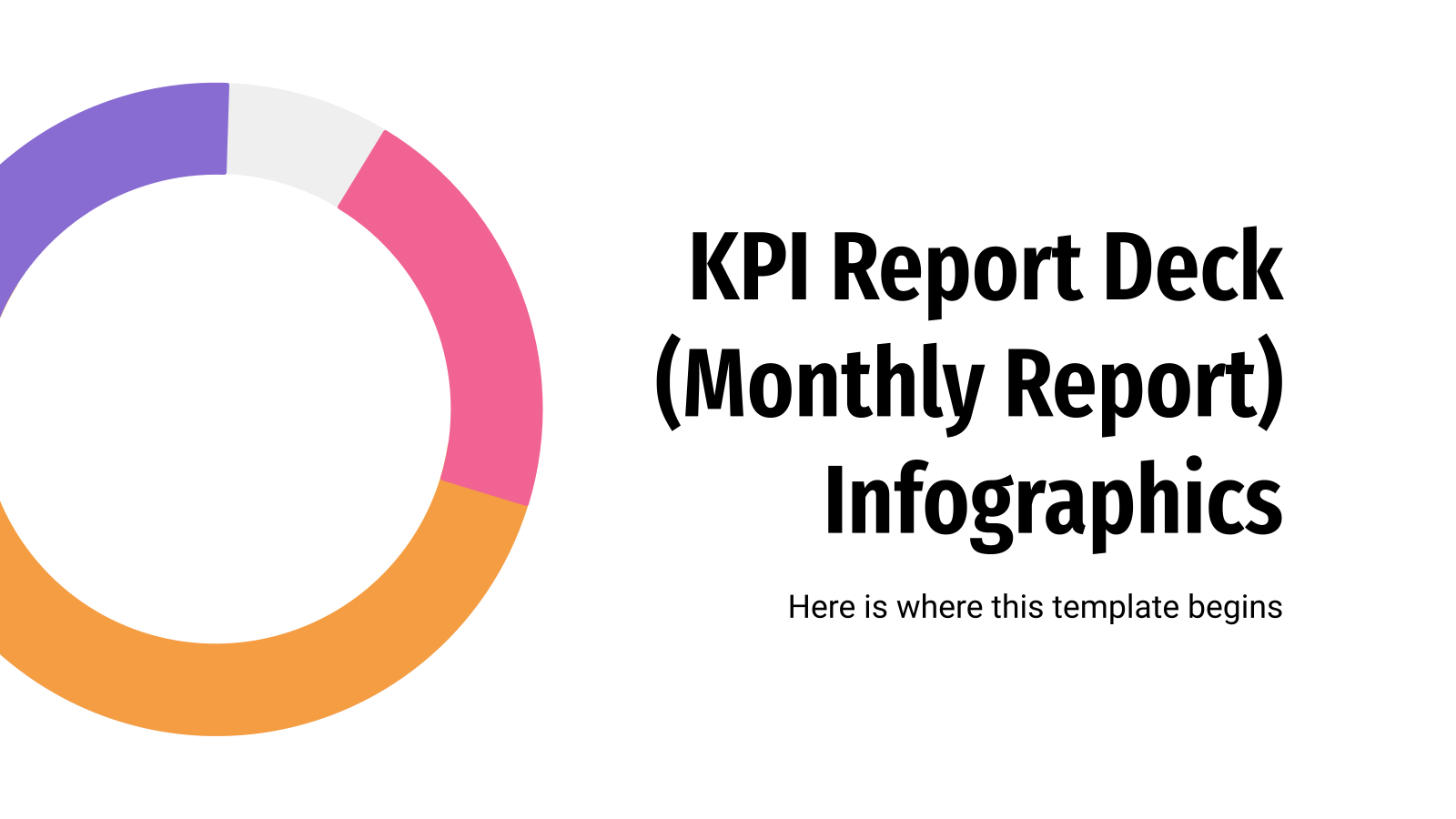 KPI Report Deck Infographics presentation template