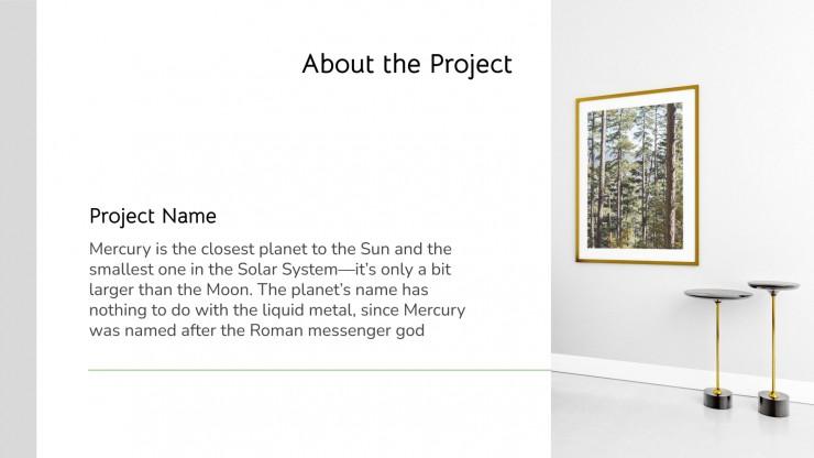 Minimalist Project Proposal presentation template