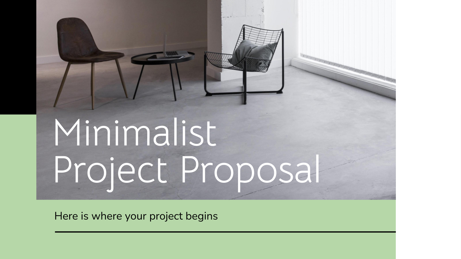 Minimalistischer Projektvorschlag Präsentationsvorlage