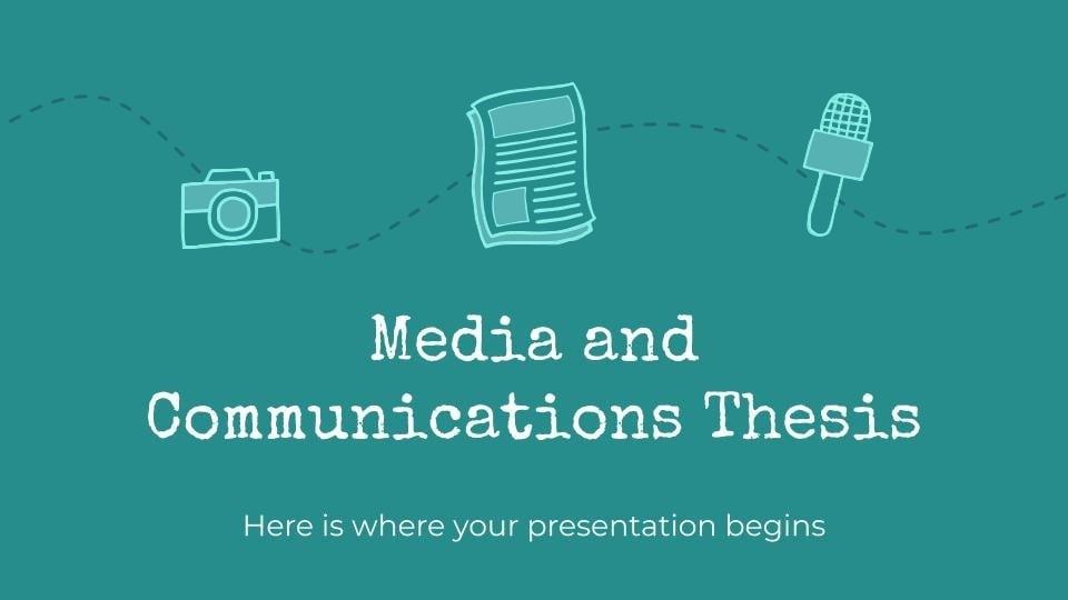 Thèse sur les médias et la communication : Modèles de présentation