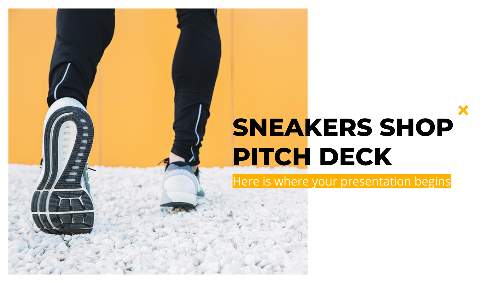Sneakers Shop Pitch Deck presentation template