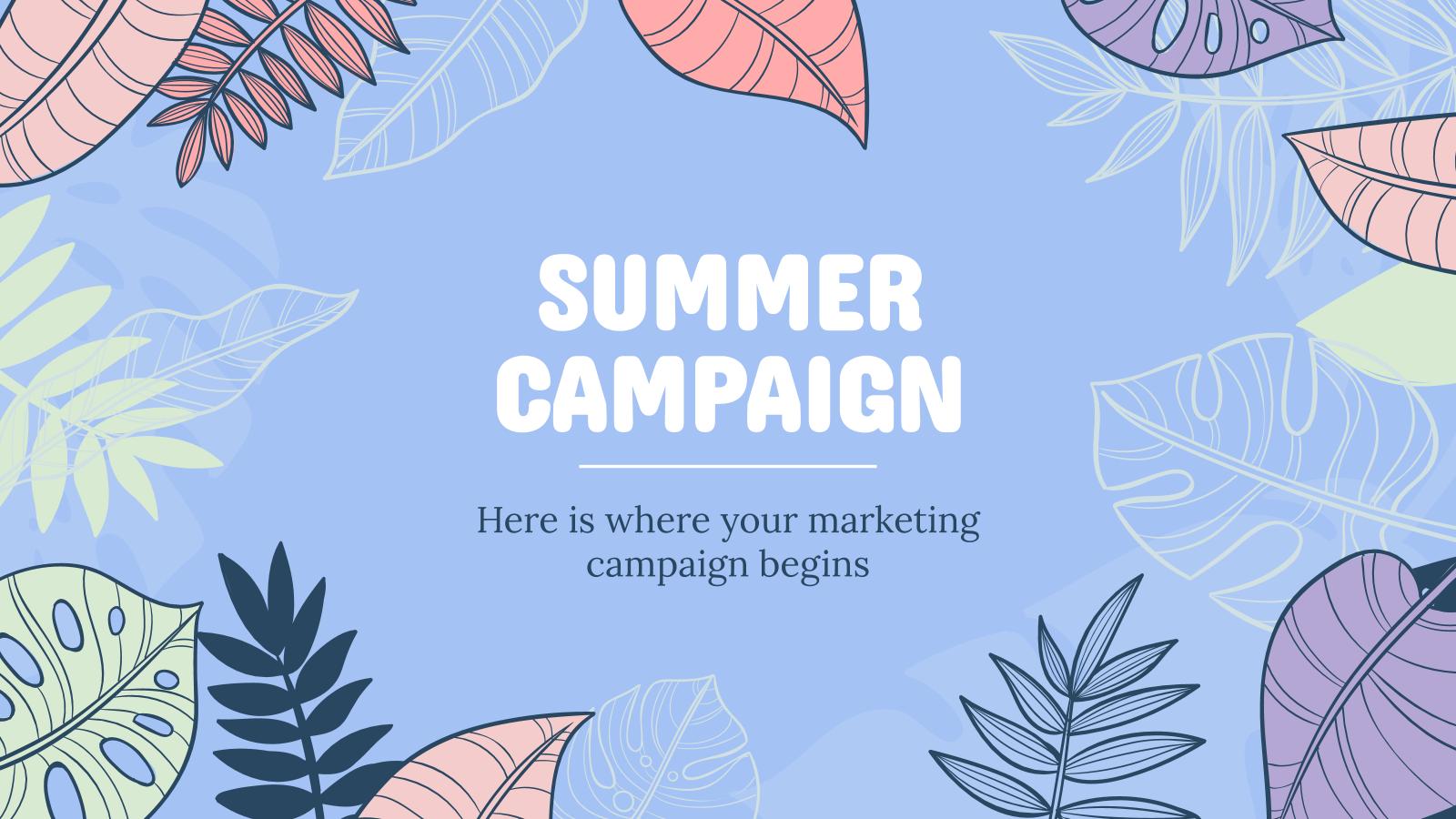 Modelo de apresentação Campanha de verão