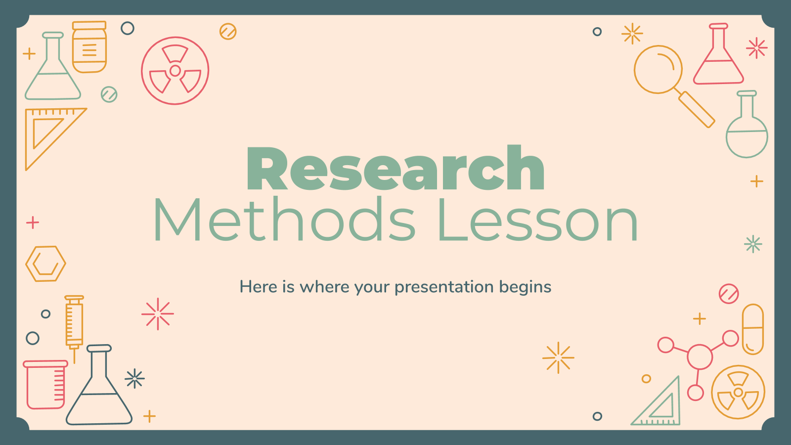 Research Methods Lesson presentation template