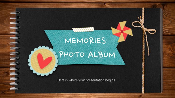 Plantilla de presentación Álbum de fotos de recuerdo
