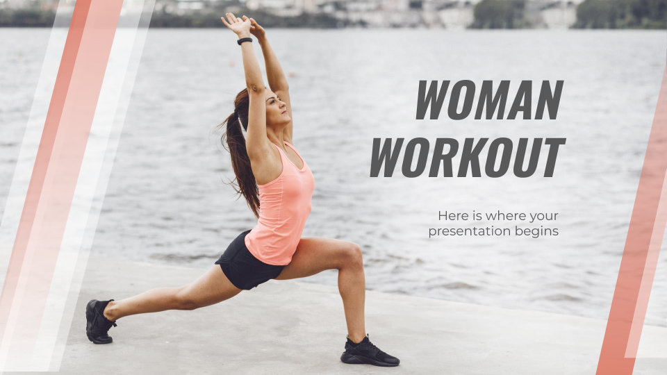 Woman Workout presentation template