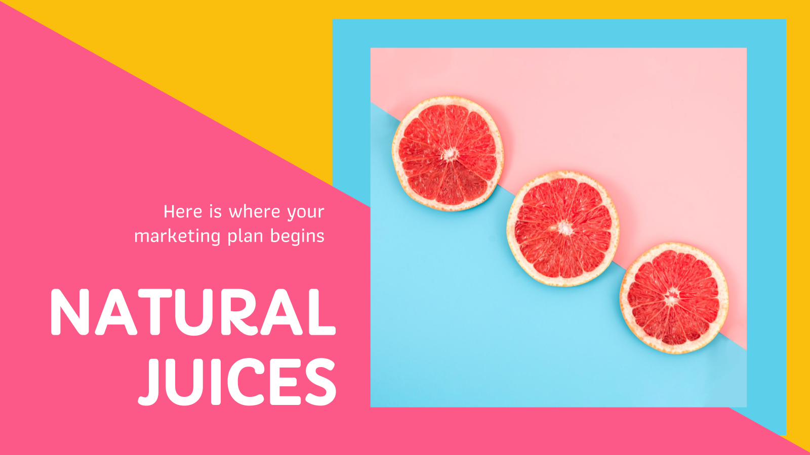 Natural Juices Marketing Plan presentation template