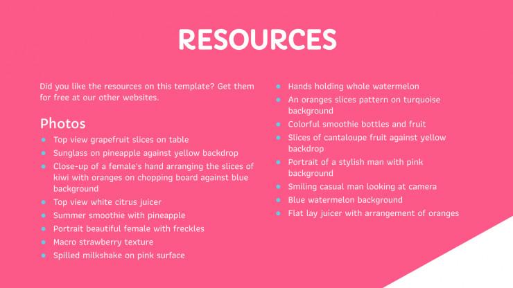 Modelo de apresentação Plano de marketing de sucos naturais