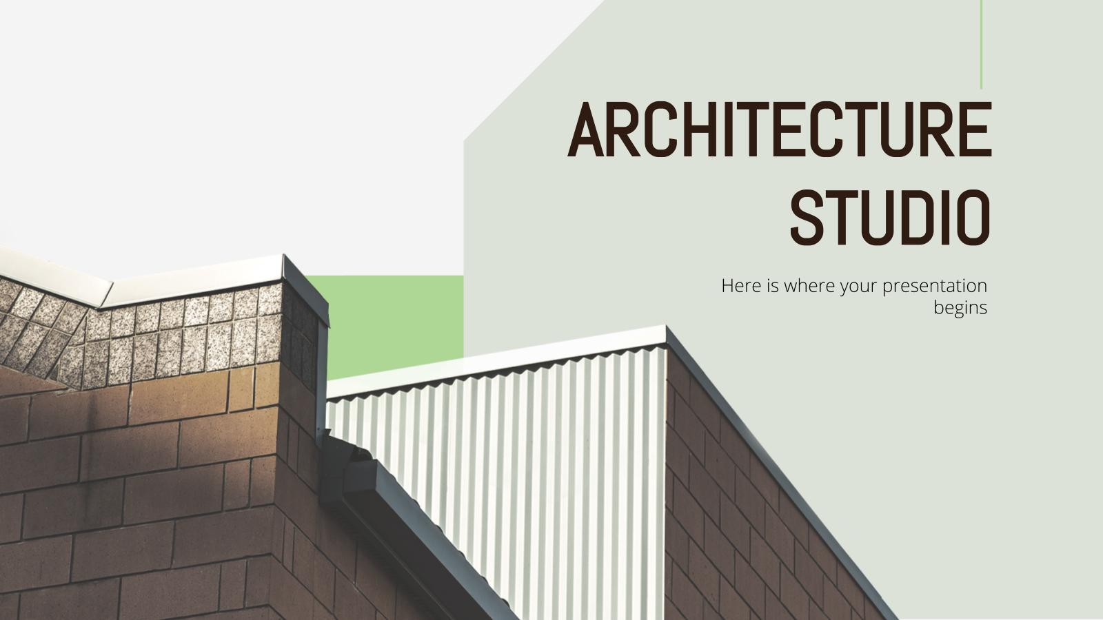 Architecture Studio presentation template