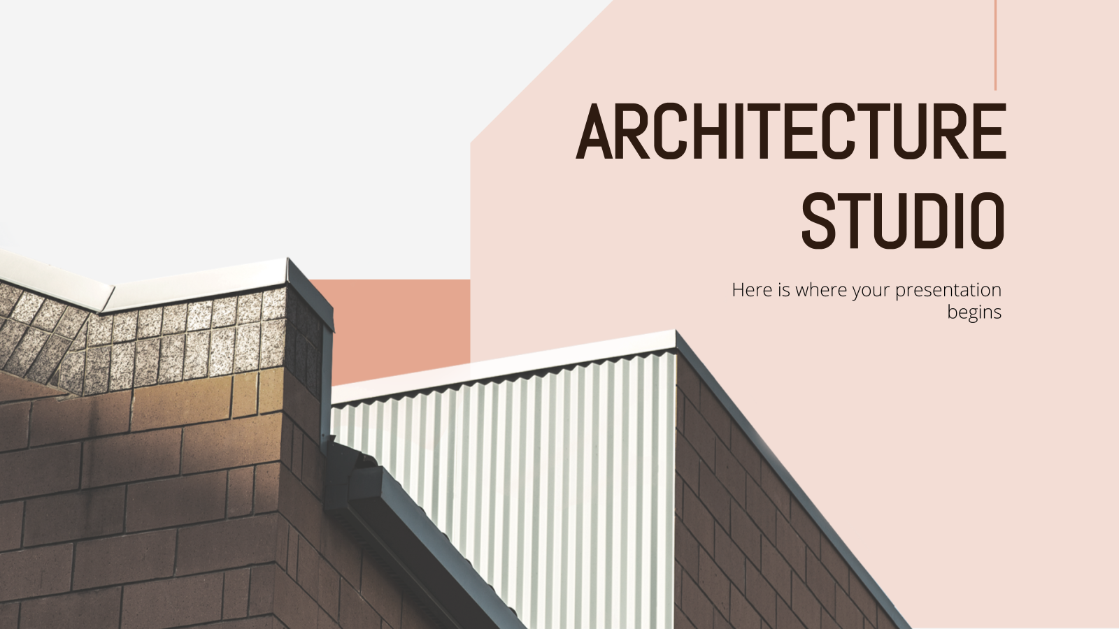 Architecture Studio presentation template