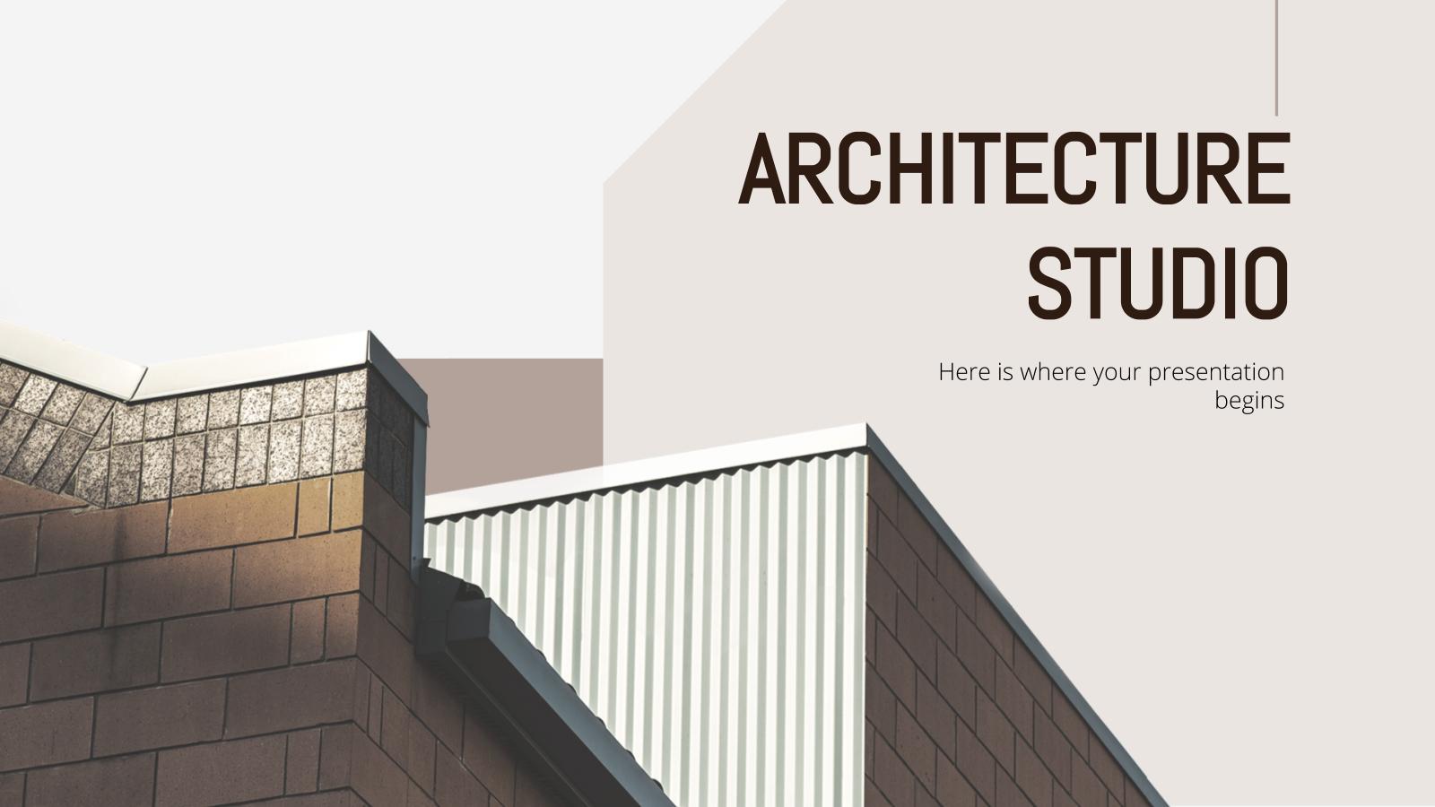 Modelo de apresentação Escritório de arquitetura