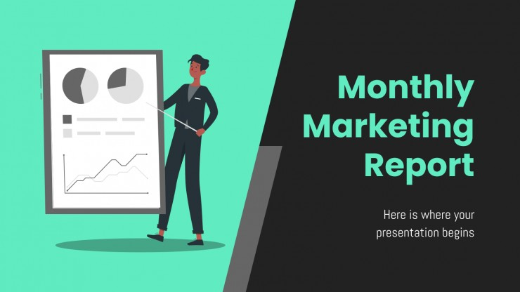 Monthly Marketing Report presentation template