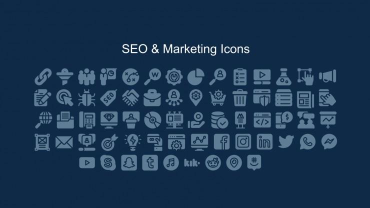 Plantilla de presentación Informe mensual de marketing