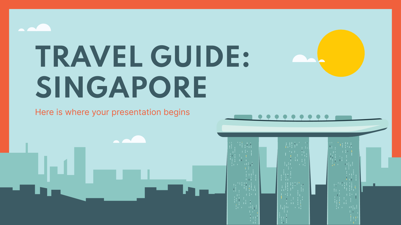 Travel Guide: Singapore presentation template