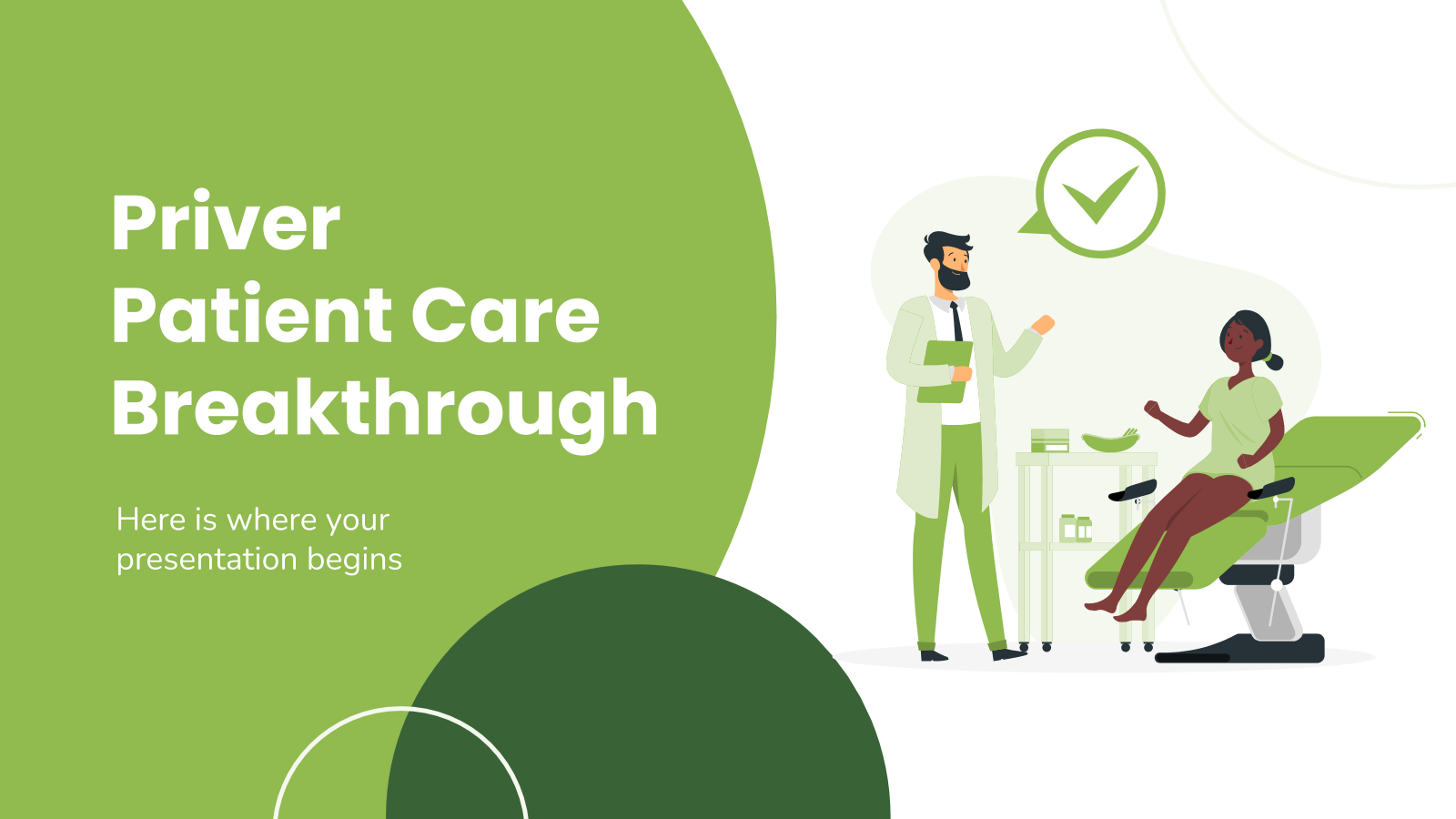 Priver Patient Care Breakthrough presentation template