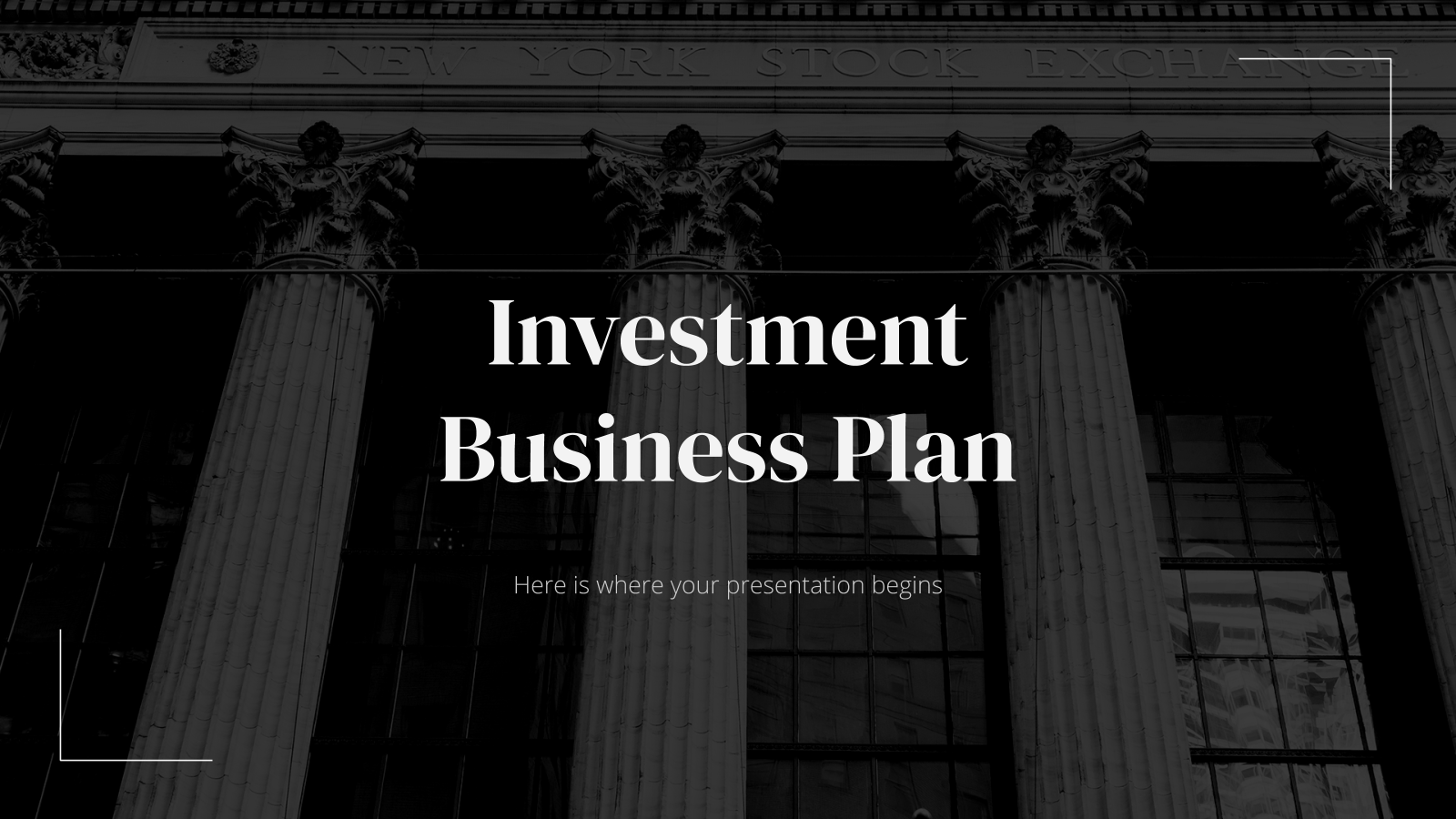 Investment Business Plan presentation template