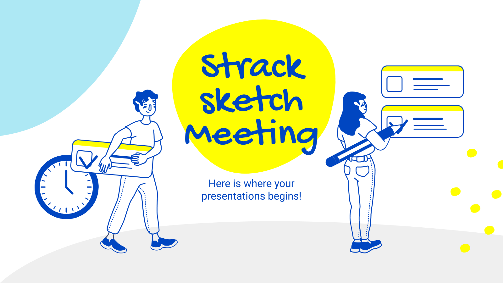 Strack Sketch Meeting presentation template